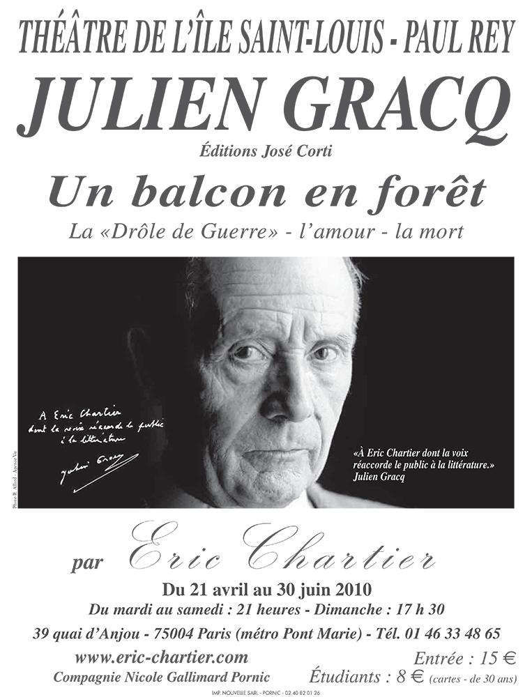 """Gracq : """"Un balcon en forêt"""""""